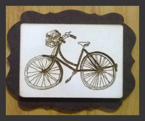 3D Brooch with bicycle