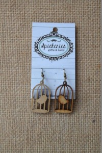 Natural Birdcage Earrings
