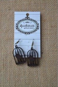 Ebony Birdcage Earrings