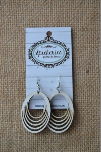 White Loop Earrings (009WHLO)