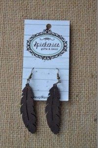 Ebony Feather Earrings (009EBFE)