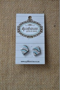 Stud Earrings Blue Diamond