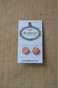 Stud Earrings Coral